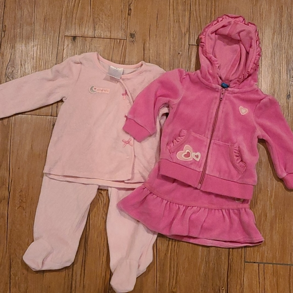 Velour baby outfits